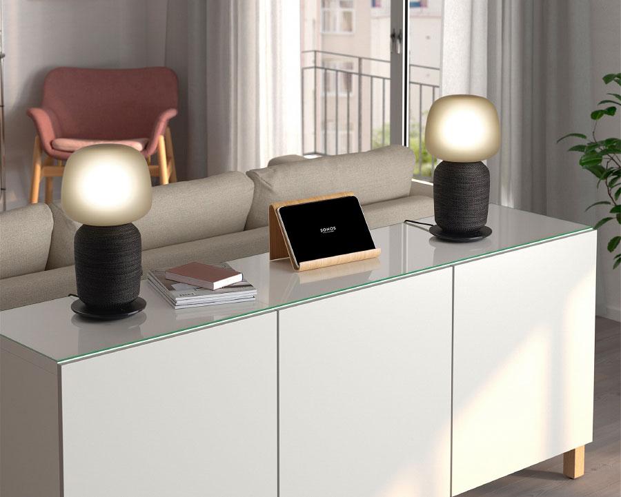 Επιτραπέζιο φωτιστικό IKEA SYMFONISK με ηχείο WiFi